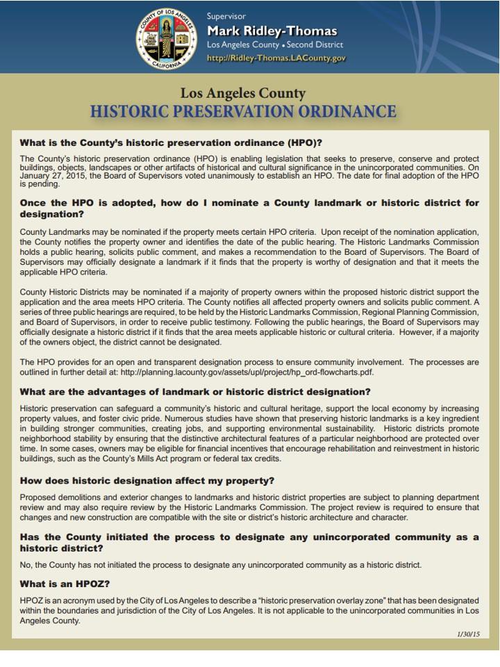 MRT HPOZ FAQ 02.10.2015